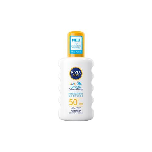 Nivea Sonnenpflege Kinder Sonnenschutz Sun Kids Schutz & Sensitiv Sonnenspray LSF 50+ 200 ml