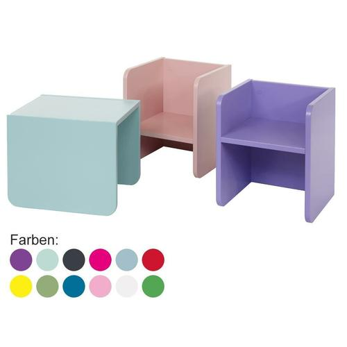 Kindertisch oder Kinderstuhl, 3-in-1 Hocker, Manis-h, Hocker