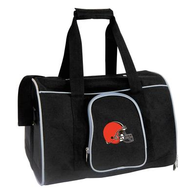 """Cleveland Browns Black Small 16"""" Pet Carrier"""