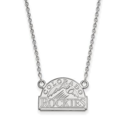 Colorado Rockies Women's Small Logo Sterling Silver Pendant Necklace