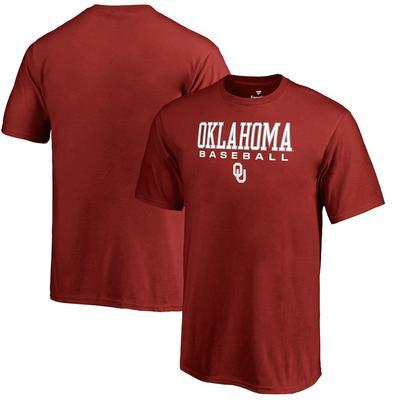 Oklahoma Sooners Fanatics Branded Youth True Sport Baseball T-Shirt - Cardinal