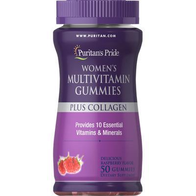 Puritan's Pride Women's Multivitamin Gummies Plus Collagen-50 Gummies