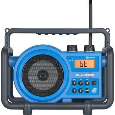"""Sangean AM/FM/Bluetooth/Aux-in Ultra Rugged Rechargable Digital Tuning Radio Blue Small"""