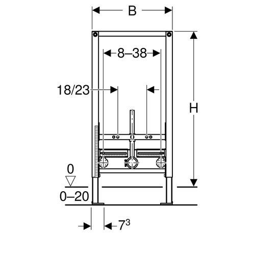 Geberit Duofix Wand-Bidet 98 cm für Einlocharmatur 111535001