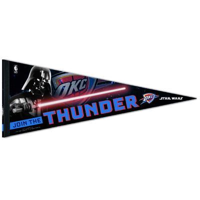 """WinCraft Oklahoma City Thunder Star Wars Darth Vader 12"""" x 30"""" Premium Pennant"""