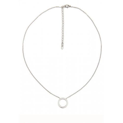 Leslii Halskette mit schickem Ring-Anhänger silberfarben Damen Ketten Anhänger Halsketten Schmuck
