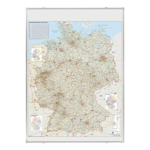 Deutschlandkarte »KA300D« grau, Franken