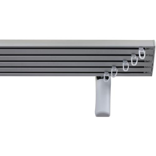 GARESA Gardinenschiene Flächenvorhangschiene 2 - 5 lauf, spezial, läufig-läufig, Wunschmaßlänge grau Gardinenschienen Gardinen Vorhänge