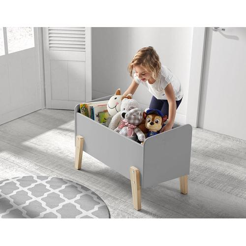 Vipack Spielzeugtruhe Kiddy, MDF-Oberfläche grau Truhen Kleinmöbel