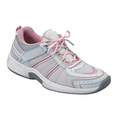 #1 Overpronation Diabetic Neuropathy Wide Width Athletic Shoes Pink Sneakers For Women with Arch Support | OrthoFeet, 5 / Medium / Pink