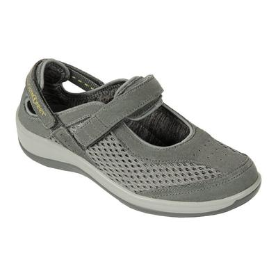 Orthotic Walking Mary Janes, Premium Arch Support, Orthotic Insloes, Women's Mary Janes | OrthoFeet Footwear, Sanibel, 6 / Extra Wide / Gray