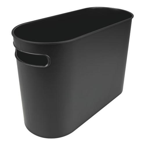 Papierkorb »the oval« schwarz, helit, 17.8x30x45 cm