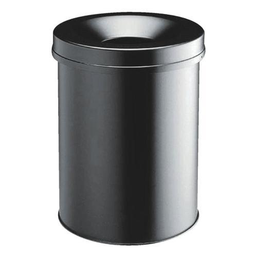Stahl-Papierkorb 30 L schwarz, Durable, 31.5x49.2 cm