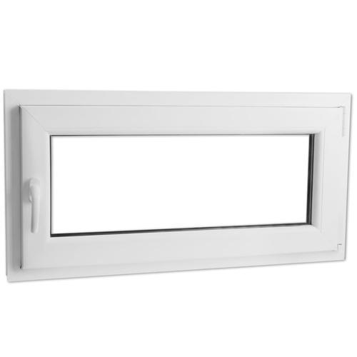 vidaXL Dreifach Verglast PVC Drehkippfenster+Griff (linke Seite) 800x400mm