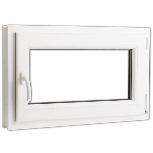 vidaXL Dreifach Verglast PVC Drehkippfenster+Griff (linke Seite) 800x500mm