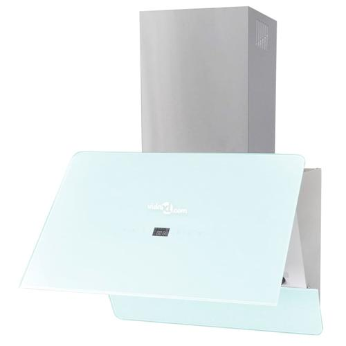 vidaXL Abzughaube Dunstabzug Hartglas Weiß 600 mm
