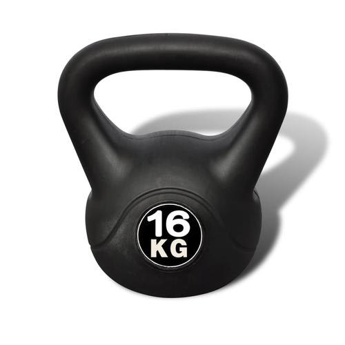vidaXL Kettlebell Kugelhantel Trainingshantel Gewicht 16KG