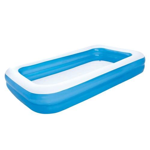 Bestway Aufblasbarer Pool blau/weiß 305 x 183 x 46 cm 54009