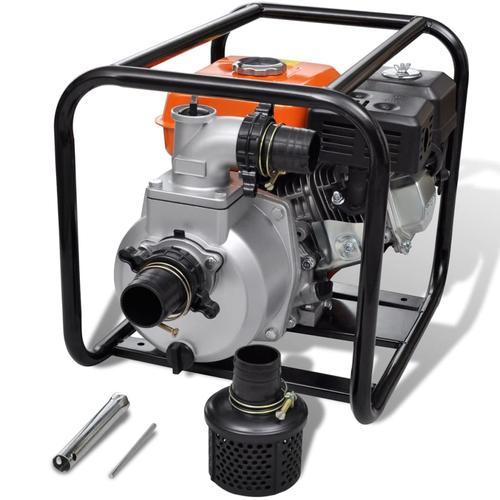 vidaXL Benzin-Wasserpumpe 80 mm Schlauchanschluss 6,5 PS