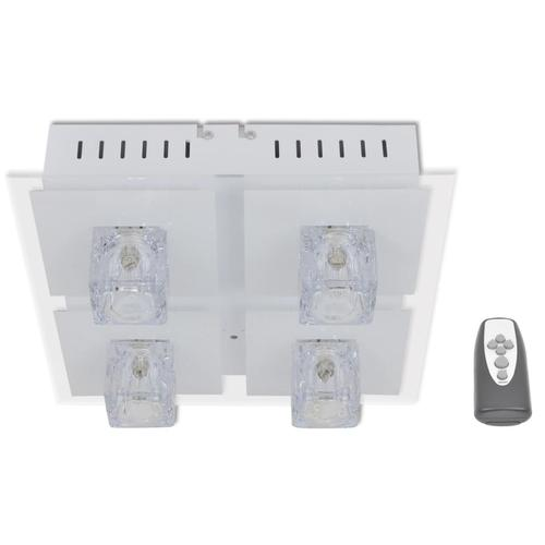 vidaXL RGB LED Deckenlampe Wohnzimmer Leuchte 4 Lampenschirme