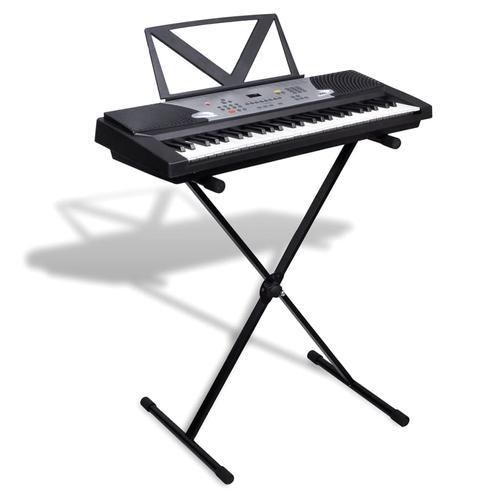 vidaXL Elektronisches Keyboard 54-Tasten mit Keyboard- und Notenständer
