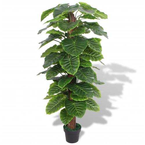 vidaXL Künstliche Taro-Pflanze mit Topf 145 cm Grün