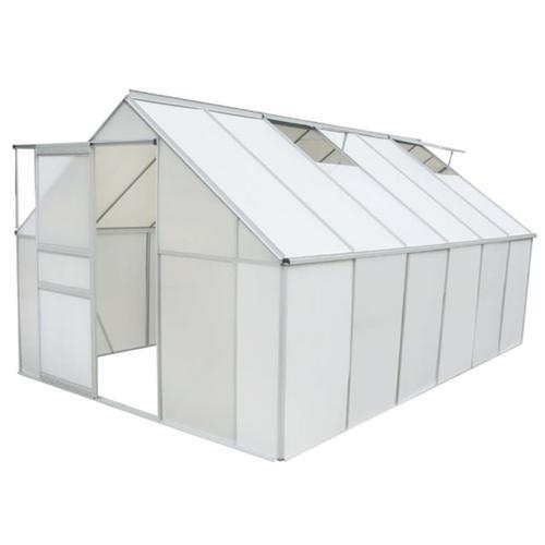vidaXL Gewächshaus Polycarbonat und Aluminium 490×250×195 cm