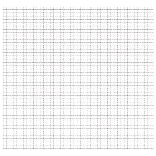 vidaXL Wellengitter Edelstahl 100x85 cm 11x11x2 mm