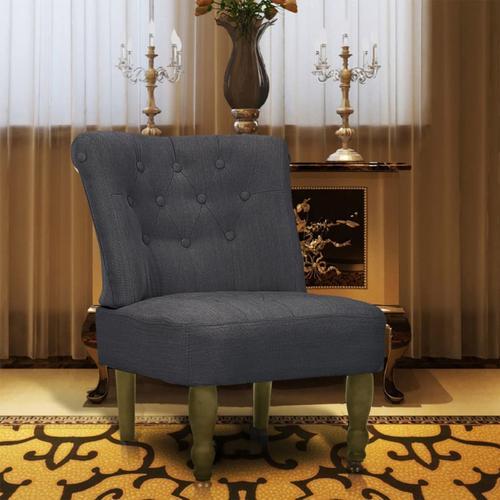 vidaXL Französischer Sessel Grau Stoff
