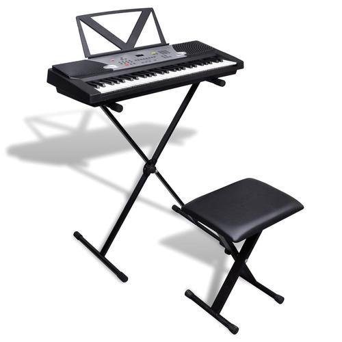 vidaXL Elektronisches Keyboard 54-Tasten mit Keyboardständer und Sitzhocker