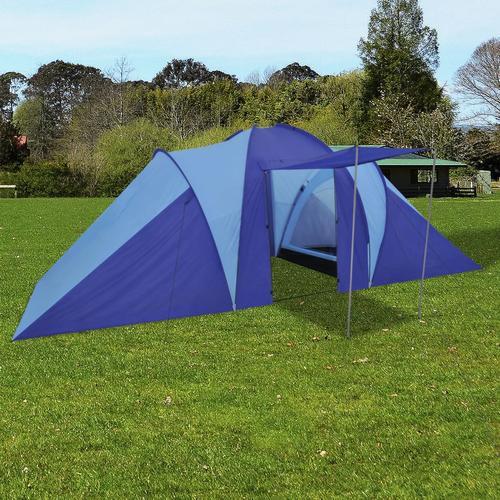 vidaXL Familienzelt Kuppelzelt Campingzelt 6 Personen Marineblau