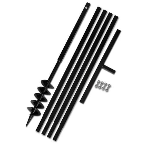 vidaXL Erdbohrer mit Griff 100 mm Verlängerungsrohr 5 m