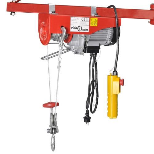 vidaXL Elektrischer Seilhebezug 1000 W 200/400 kg