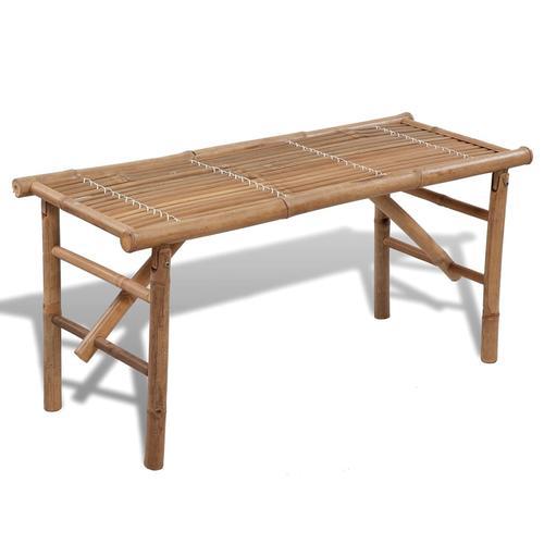 vidaXL Gartenbank Klappbar 118 cm Bambus