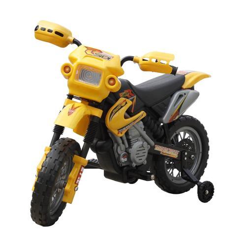 vidaXL Kinder Motorrad 2 km/h Akku gelb