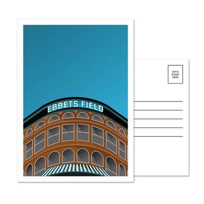 Brooklyn Dodgers Ebbets Field 5-Pack Minimalist Postcard Set