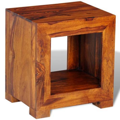 vidaXL Beistelltisch Massivholz 37×29×40 cm