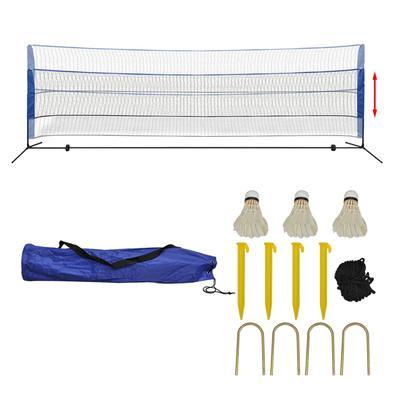 vidaXL Filet de badminton avec volants 500 x 155 cm