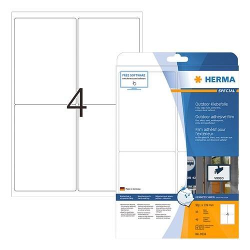Outdoor Folien-Etiketten »9534« weiß, Herma