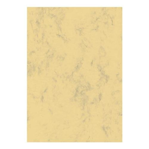 Marmorpapier - 50 Blatt - 200g/m² beige, Sigel, 21x29.7 cm