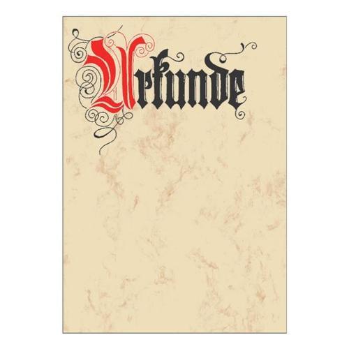 Motivpapier »Urkunde« DP548 rot, Sigel, 21x29.7 cm