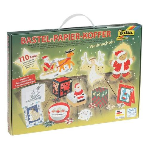 Bastel-Papier-Koffer »Weihnachten 110-teilig«, folia