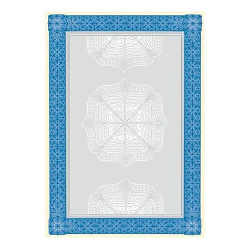 Motivpapier »Wertpapier blau« DP490 beige, Sigel, 21x29.7 cm
