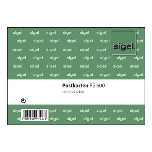 Postkarten PS600 weiß, Sigel, 14.8x10.5 cm