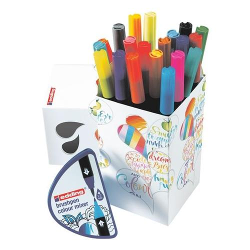 20er-Pack Brushpen »Colour Happy Set e-1340/20+1 S« schwarz, Edding