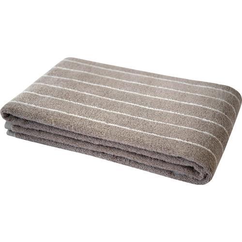 Dyckhoff Duschtuch Nadelstreifen, (1 St.), mit eingewebten Nadelstreifen grau Badetücher Handtücher