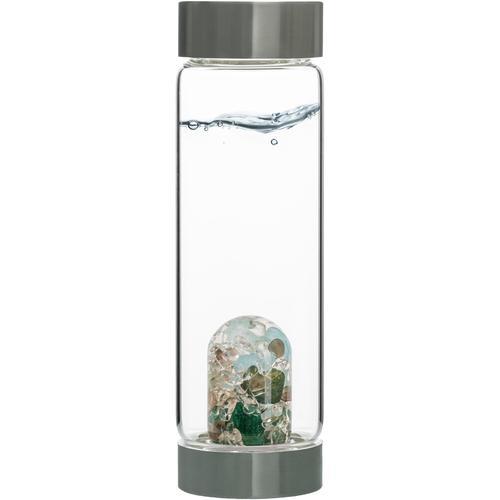 VitaJuwel Wasserkaraffe Edelsteinflasche ViA Forever Young, (Aquamarin - Aventurin Rauchquarz Bergkristall) farblos Karaffen Gläser Glaswaren Haushaltswaren