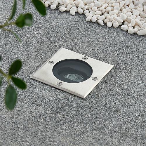 Doris - LED-Bodeneinbaustrahler, eckige Form
