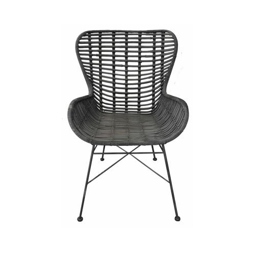 SIT Rattan Vintage Big Stuhl Rattan schwarz lackiert