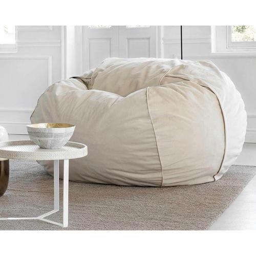 vetsak® Velvet Large Sitzsack VE02 Light Grey